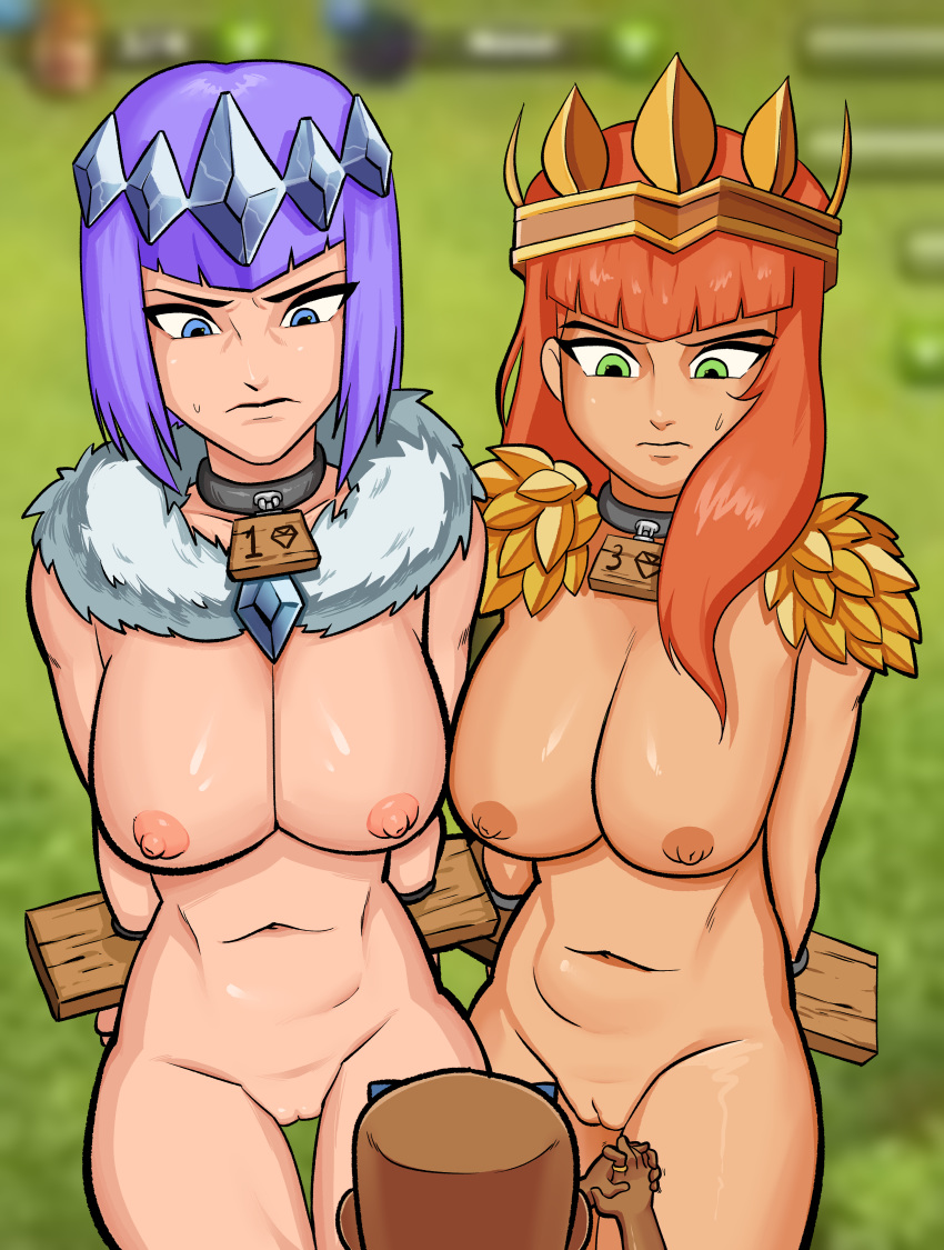 nude of valkyrie clans clash Krillin and 18 fan art